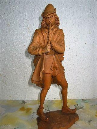 Skulptur RatenfÄnger Von Hameln Sehr Alte Handarbeit.  Holzschnitzerei Bild