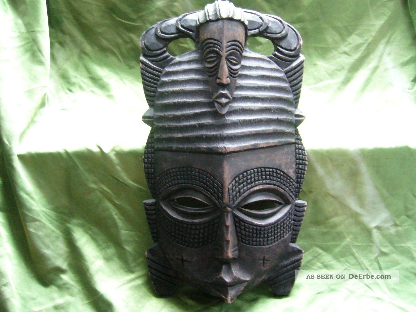 Afrika wandmaske holzmaske dekoration bersee inseln - Dekoration afrika ...