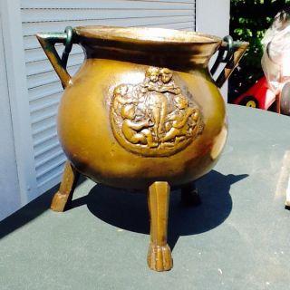 Sehr SchÖnes Altes Bronze GefÄss,  Ca.  10l Bild