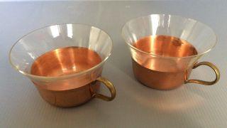 2 Stück Kupfer Teegläser Groggläser Teetasse Bild