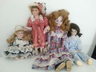 Alte Puppen Sammlung 4 Stück Bild