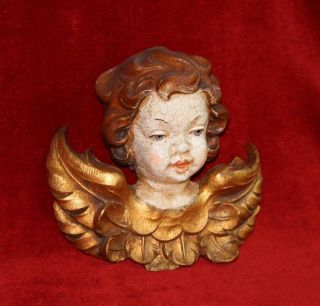 Imposanter Goldener Engel,  Oberammergau - - - - - - (putte Putto Angel Golden) Bild