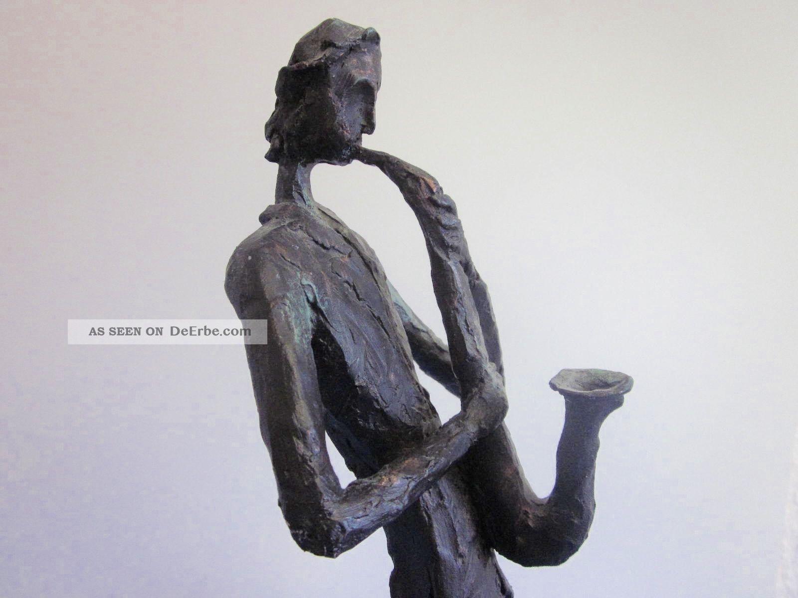 Grosse Skulptur Saxophonspieler 51 Cm Figur Plastik 70er 80er Design 1950-1999 Bild