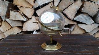 Sputnik Design Kugel Wetterstation Barometer Hygrometer Thermometer Vintage 60er Bild
