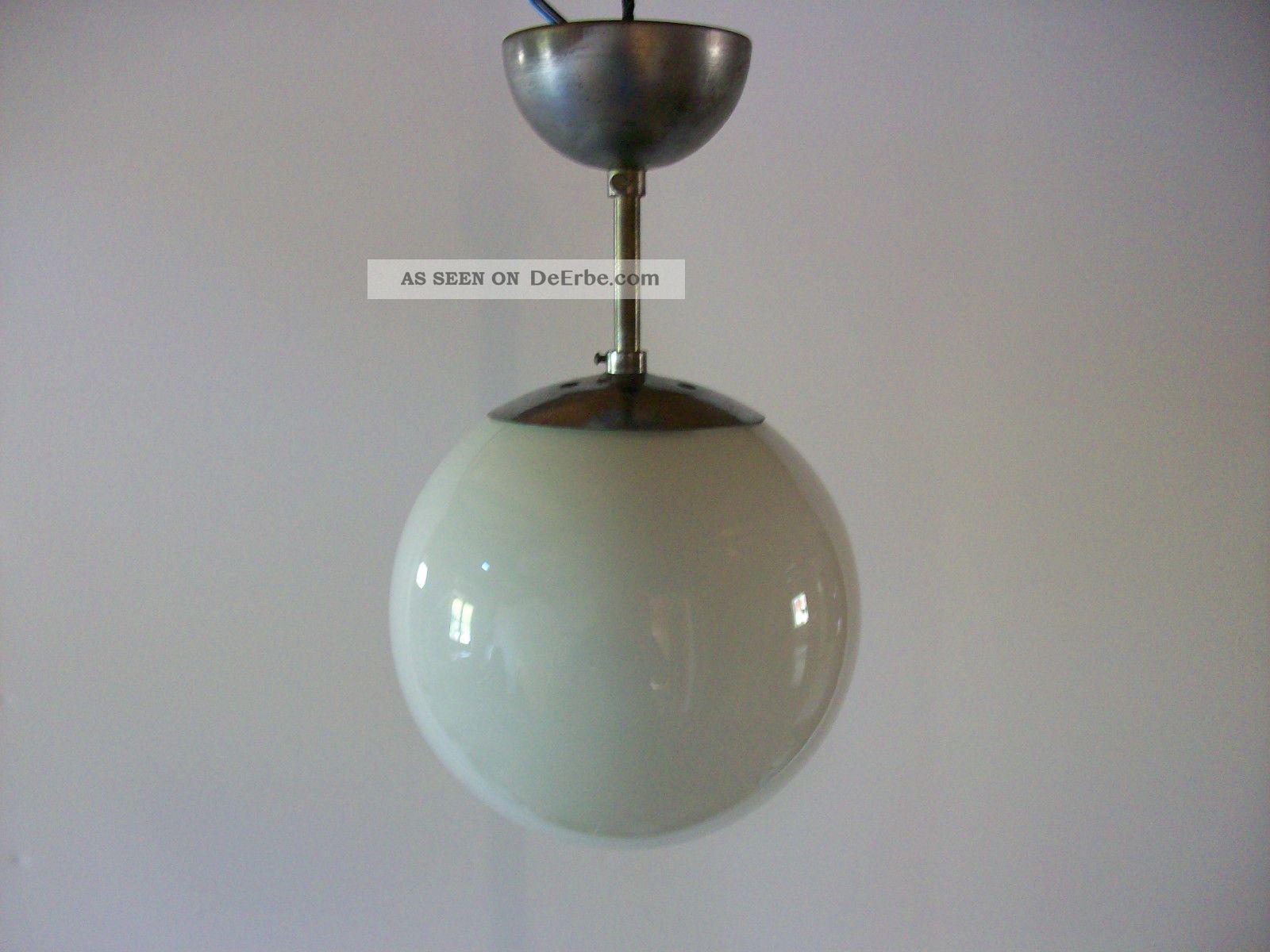 Bauhaus lampe mundgeblasenes opalglas 30er 40er for Lampen 40er jahre