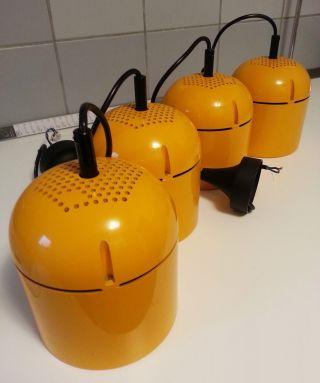 4x Hängeleuchte Industrie - Lampe Pendelleuchte Staff Panton Ära 60er 70er Bild