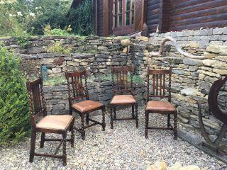 4 Antike Stühle Aus Der Jahrhundertwende Bild