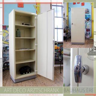 Steel Vintage Mid Century Modern Schrank Armoire Cabinet Art Deco Bauhaus Ère Bild