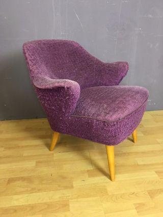 Ob16 - 0117 - Mid Century Sessel - Violett - 50s - Fifties - 50er Bild