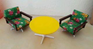 Möbel Drehsessel Sessel Tisch Vero 60/70er Jahre Puppenstube Kunststoff Bild