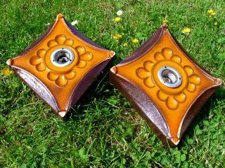 Pan® Goebel Wandleuchten 2 Stück Wand - Lampe Keramik 60er 70er Design Stil Loft Bild