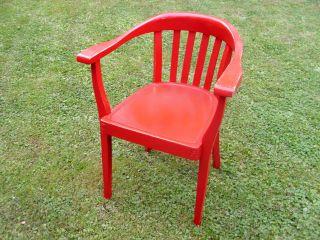 Bürostuhl Armlehnstuhl Stuhl Chair Mid Century Art Deco Vintage Stil Bauhaus Alt Bild