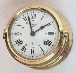 Alte Schiffsuhr Glasenuhr Wempe Chronometerwerke Hamburg Bild