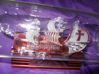 1 Glasflasche Mit Glasschiff,  Buddelschiff Bild