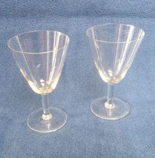 2 Alte Weingläser,  Weißweingläser Ca.  Fünfziger Jahre,  Gut Bild