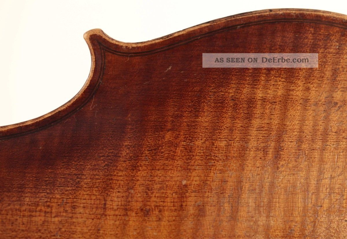 Sehr Alte 4/4 Geige Mit Zettel Pressenda 1847 Violine Violon Violin Viola Viool Musikinstrumente Bild