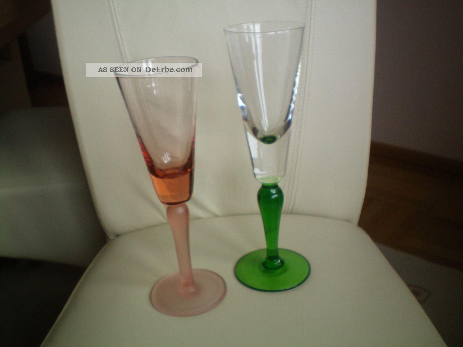 Seltene Große Gläser (29cm) Rosaglas - Grünglas - Pressglas? Dachbodenfund Sammlerglas Bild