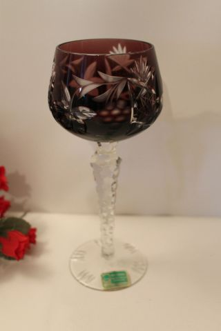 Römer Weinglas / Rotweinglas Weinkelch Dunkel - Lila - Wunderschön Und Edel - Bild