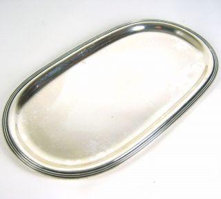 Jakob Grimminger Tablett Aus 925er Sterling Silber Silver Tray 193g Bild