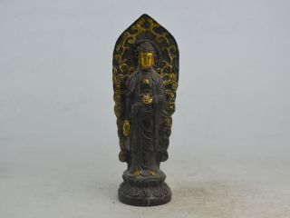 Collectible Old Exquisite China Bronze&copper Carving Buddha Statue Figure Bild