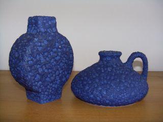 2 X Silberdistel Fat Lava Keramik Vase 60s 70s Wgp Fat Lava Otto Roth Bild