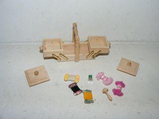 Nostalgie - Nähkasten,  Inhalt - Bodo Hennig - Modeladen - Puppenhaus - Puppenstube - Ca 1:12 Bild