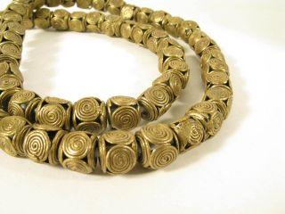 Schöner Strang Messingperlen Gelbguß Ghana Brass Beads Ashanti Akan P Afrozip Bild
