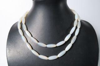 Alte Böhmische Opalglasperlen Old Bohemian Trade Glass Beads Afrozip Bild