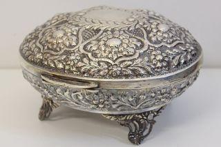Bonboniere Deckeldose Ägypten Punziert 925 Silber 950g E1319 Bild