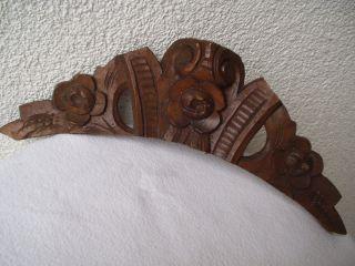 Antiker Originaler Aus Holz Geschnitzter Uhren/möbel - Aufsatz Von 1880 Bild