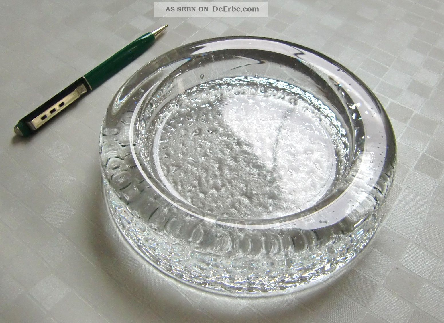 Iittala Finland 16cm Glas Aschenbecher 60er 70er Ashtray Tuhkakuppi Bubble Glass Sammlerglas Bild