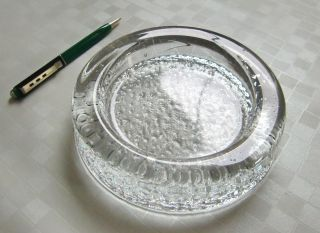 Iittala Finland 16cm Glas Aschenbecher 60er 70er Ashtray Tuhkakuppi Bubble Glass Bild
