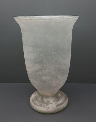 Italienische Amphoren Vase - Scavo - Empoli / Murano ? - 27 Cm Bild