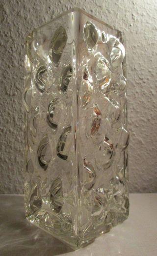 Noppen Vase Blockvase Kristall Glas Space Age 70er 70s Vintage 1,  7 Kg 22,  5 Cm Bild