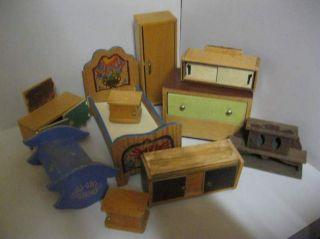 Möbel - Konvolut 1 - Holz - Puppenhaus - Puppenstube Bild