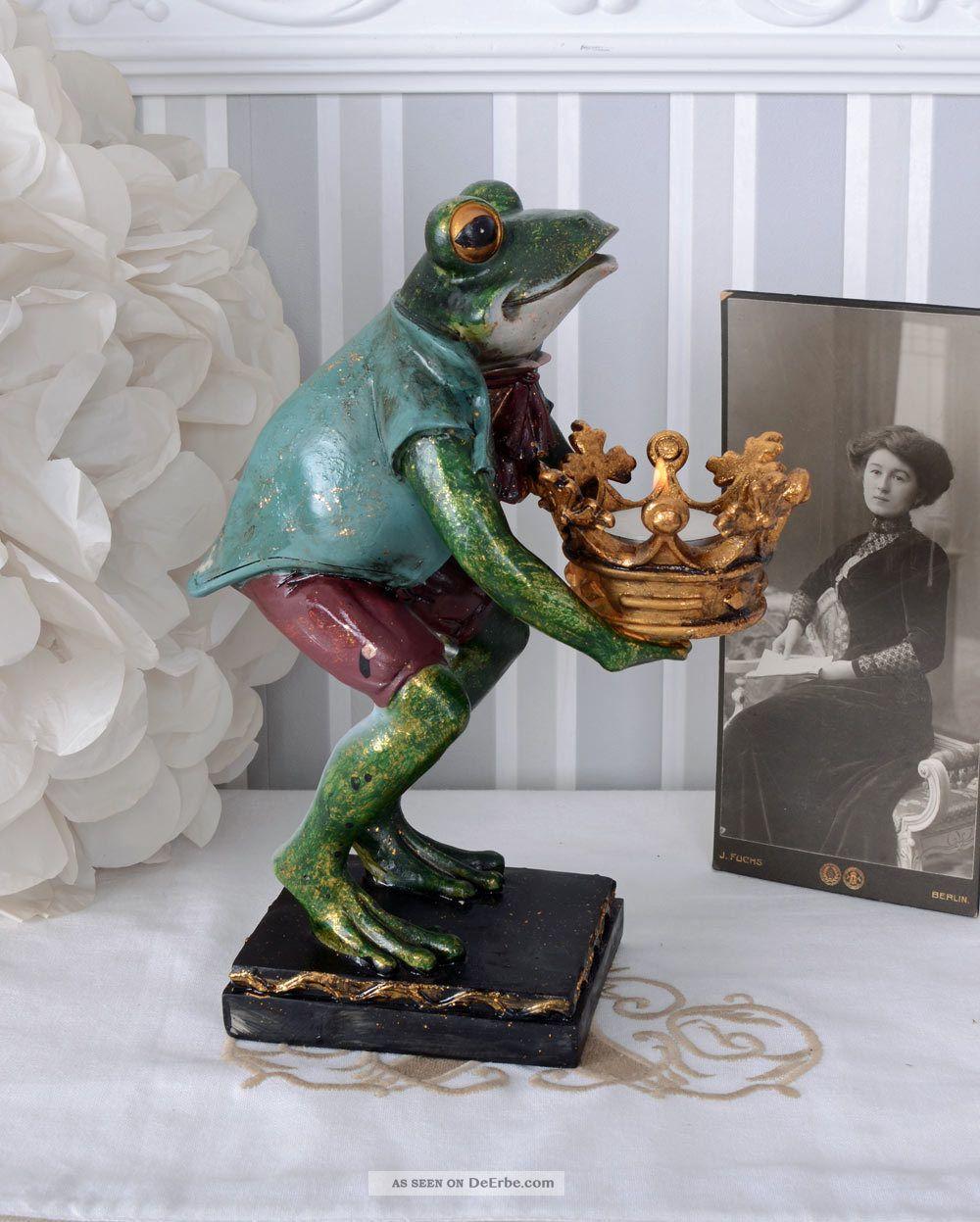 Teelichthalter Froschkönig Kerzenleuchter Frosch Leuchter Barock Ab 2000 Bild