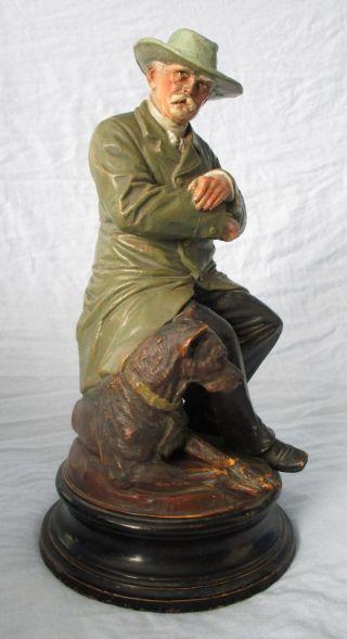 Bismarck - Figur Mit Dogge,  Ca.  36,  0 Cm Hoch,  Steinzeug Um 1900 Bild