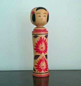 Holzfigur Vintage Geisha Kokeshi Japan Original_rare 50s 60s Art Design Bild