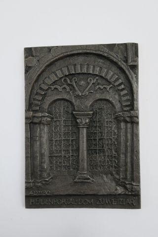 Buderus Kunstguß Relief Plakette Heidenportal Dom Zu Wetzlar 8,  3x12 Cm 227 G Bild