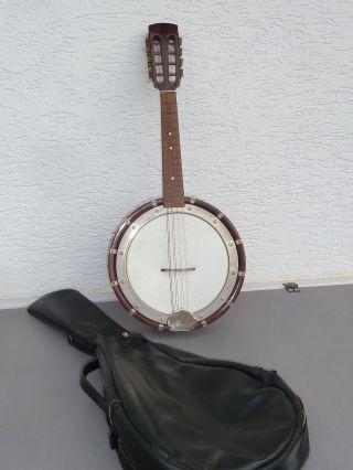 Mandolinenbanjo,  8 - Saitiges Banjo,  Gut Erhalten Und Sofort Spielbar,  Mit Tasche Bild