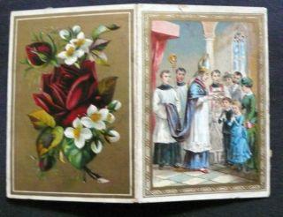 Firmung Andenkenbildchen 1889 Bühl Bischof Paulus Leopold Aufklappbar Bild