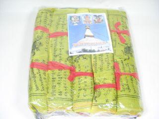 1 Rolle Tibet Gebetsfahnen M Ca.  20 Cm 25 Flags Bild
