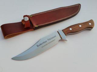 Alter Großer Skinner Hubertus Solingen Unbenutztes Messer Knife Couteau Germany Bild