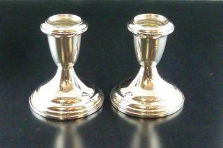 2 Kleine Kerzenleuchter - 925/silber - Sterlingsilber - 253gr.  Punze: Sterling - Weighted Bild