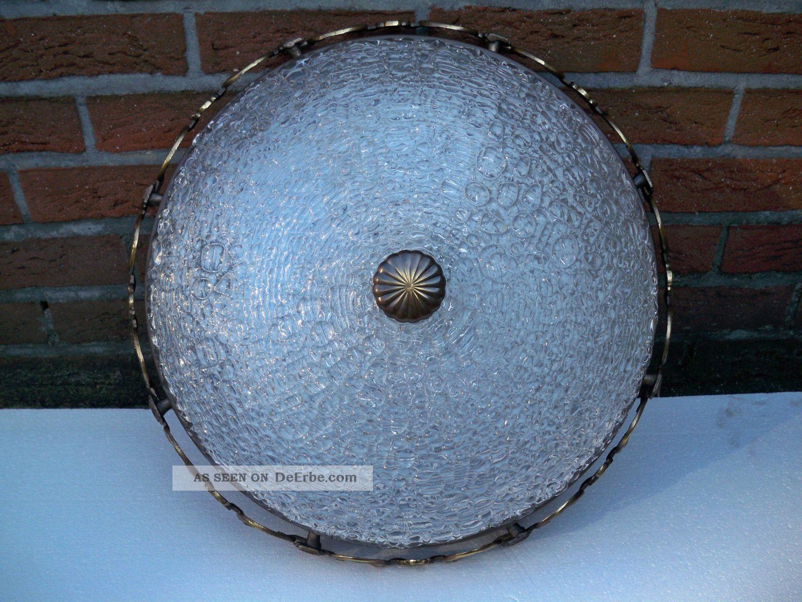 Plafoniere Deckenlampe : Xxl:alte 4 fl. plafoniere deckenlampe deckenleuchte messing bronze