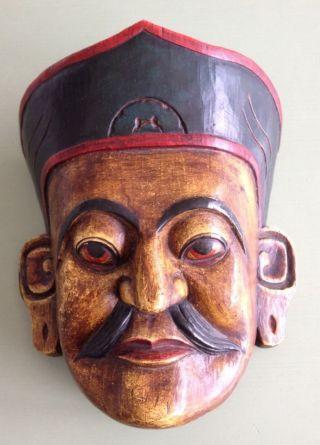 Holzmaske Aus Nepal Bild