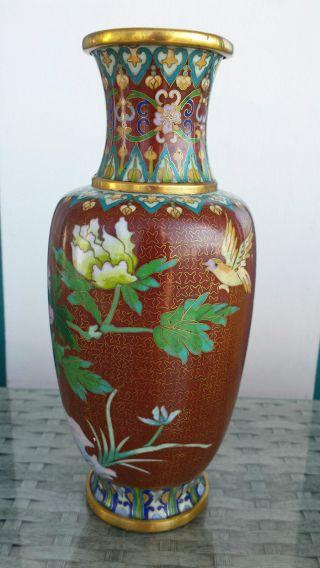 Chinesische Vase Cloisonne Cloisonnevase China Bild