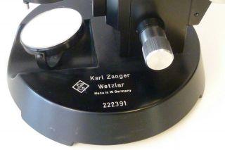 Mikroskop Der Fa.  Karl Zanger Wetzlar - Made In Germany - Im Orig.  Kasten H=41/b=22cm Bild