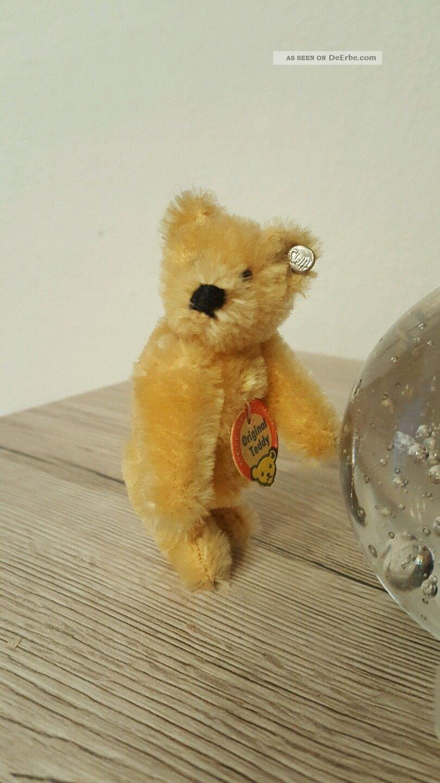 Alter Kleiner Steiff Teddy B 228 R Blond Knopf Und Schild Rarit 228 T