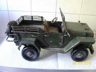 Seltener Antiker Willys Jeep Militärjeep 1945 2 Wk Komplett Aus (auch Reifen) Bild
